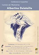 Belgique - Albertine Deletaille : Conférence et exposition dans Agenda, rendez-vous, dates à retenir DeletailleExpo_Affiche_web