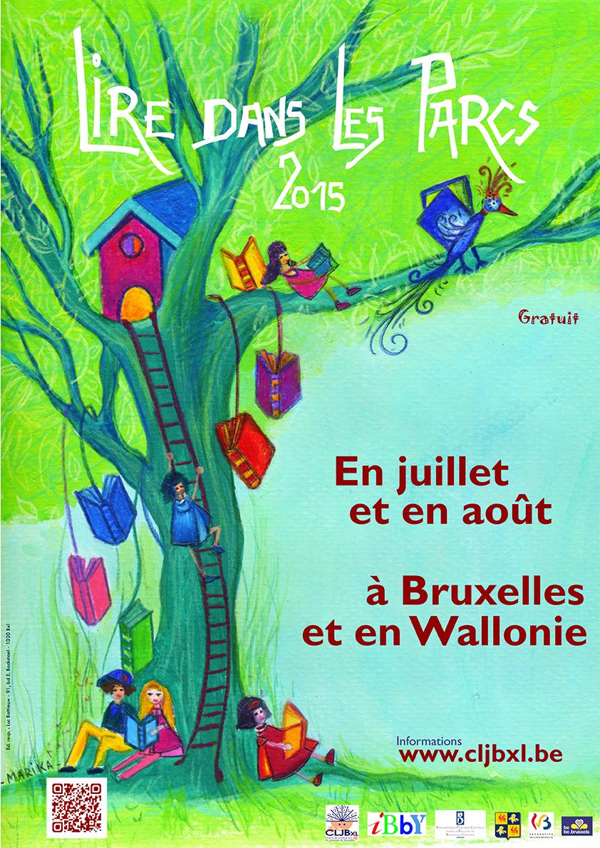 Affiche de Lire dans les parcs 2015