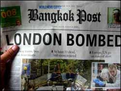Bangkok post - la une de ce 07/07/2005
