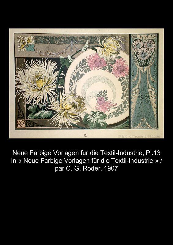 Flore 2011assiette Et Vaseneue Farbige Vorlagen Fur Die Textil